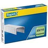 Rapid 23/10mm Staples / Pack of 1000