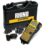 Image of Dymo RhinoPRO 5200 Labelmaker Kit Printer Adaptor and Rechargeable Battery for 6-19mm Tapes Ref S0841390