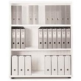 Sonix Medium Bookcase / 1 Shelf / 1200mm High / White