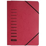 Image of Pagna Classic Elasticated Files / 3-Flap / A4 / Red / Pack of 25
