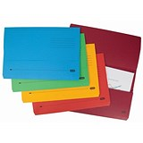 Image of Elba Bright Document Wallets / 320gsm / Foolscap / Assorted / Pack of 10