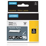 Image of Dymo RhinoPRO Industrial Tape Flexible Nylon 19mm White Ref 18759 S0718120