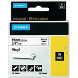 Image of Dymo RhinoPRO Industrial Tape 1500WT Coloured Vinyl 19mm White Ref 18445 S0718620