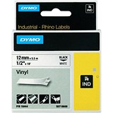 Image of Dymo RhinoPRO Industrial Tape 1500 WT Coloured Vinyl 12mm White Ref 18444 S0718600