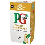Image of PG Tips Tea Bags / English Breakfast Enveloped / Pack of 25