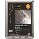 Image of Waterproof Anti-glare Snapframe with Screw Kit / PVC / A2 / Silver
