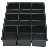 Image of Bisley Insert Tray 2/9 for Storage Cabinet / 9 Sections / Black / Pack of 5