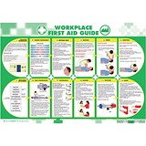 Image of Wallace Cameron Workplace First-Aid Guide Poster Laminated Wall-mountable W840xH590mm Ref 5405025