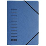 Image of Pagna Classic Elasticated Files / 3-Flap / A4 / Blue / Pack of 25