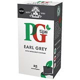 Image of PG Tips Tea Bags / Earl Grey Enveloped / Pack of 25