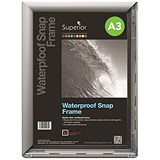 Image of Waterproof Snapframe PVC Anti-glare Cover Includes Screw Kit Rubber Seal A3 W460xD350xH21mm Silver