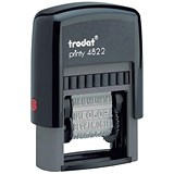 Trodat Printy 4822 Multi-word Band Stamp - 12 Words