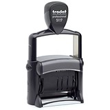 Image of Trodat Professional 5117 Self-inking Dial-A-Phrase Dater Stamp - Black