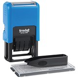 Trodat Printy Typo 4755 Self-Inking Dater Stamp with D-I-Y Text - Red & Blue