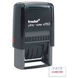 "Trodat Printy 4750/L2 Dater Stamp - ""Paid"" in Blue, Date in Red"