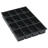 Image of Bisley Insert Tray 2/4 for Storage Cabinet / 4 Sections / Black / Pack of 5