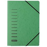 Image of Pagna Classic Elasticated Files / 3-Flap / A4 / Green / Pack of 25