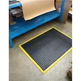 Image of Coba Mat Rubber Anti Fatigue Textured Anti Slip Bevelled Edge Bubble Pattern 600x900mm Ref BF010701