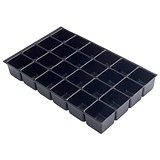 Image of Bisley Insert Tray 2/16 for Storage Cabinet / 16 Sections / Black / Pack of 5