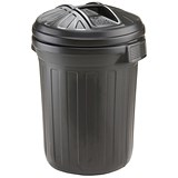 Image of Refuse Bin / 80 Litre / Black