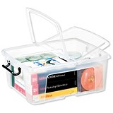 Image of Strata Smart Box / Clip-on Folding Lid / Carry Handles / Clear / 24 Litre