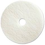 Maxima 17in Floor Polish Pads / White / Pack of 5