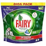 Image of Fairy Original Professional Dishwasher Capsules / All-in-One / Pack of 100