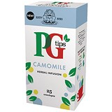 Image of PG Tips Tea Bags / Camomile Enveloped / Pack of 25