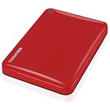 Toshiba Canvio Advance Hard Drive / USB 3.0 and 2.0 / 1TB / Red