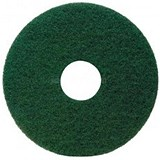 Image of Maxima 17in Floor Polish Pads / Green / Pack of 5