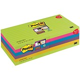 Post-it Super Sticky Notes / 100x100mm / Bright Rainbow / Pack 12 x 90 Notes