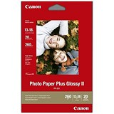 Canon Glossy Photo Paper / 130 x 180mm / 260gsm / White / 20 Sheets
