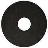 Maxima 17in Floor Polish Pads / Black / Pack of 5