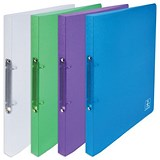 Elba 2nd Life Recycled Ring Binder / A4 / 2 O-Ring / 20mm Spine / Assorted / Pack of 4