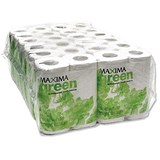 Maxima Green Toilet Rolls / 200 Sheets / White / Pack of 48