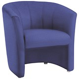 Trexus Reception Single Seat Tub Chair - Blue