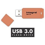 Integral Neon 3.0 USB Drive / 128GB / Orange