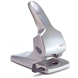 Image of Rapesco Zero 65 Heavy-duty 2-Hole Punch / Silver / Punch capacity: 65 Sheets