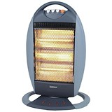 Image of Igenix Halogen Heater Oscillating 3 Heat Settings Max 1.2kW 220V Grey Ref IG9512