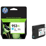 Image of HP 953XL High Yield Cyan Ink Cartridge
