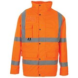 Image of Supertouch High Visibility Breathable Jacket / Medium / Orange