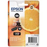 Image of Epson T33XL Inkjet Cartridge Capacity 8.1ml Photo Black Ref C13T33614012