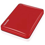 Image of Toshiba Canvio Connect II Hard Drive / USB 3.0 and 2.0 / 2TB / Red
