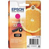 Image of Epson T33XL Inkjet Cartridge Capacity 8.9ml Magenta Ref C13T33634012