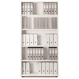 Sonix Tall Bookcase / 4 Shelves / 2000mm High / White