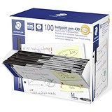 Staedtler 430 Stick Ballpoint Pen / Medium / Black / Pack of 100