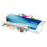 Image of Leitz iLam HomeOffice Laminator A4 Blue