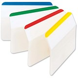 Image of Post-it Strong Angled Index Filing Tabs - 6 x 4 Assorted Colours
