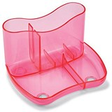 Image of Contemporary Desk Tidy with 4 Compartments - Pink