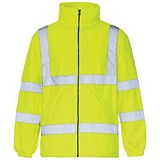 Image of Supertouch High Visibility Fleece Jacket / Medium / Yellow